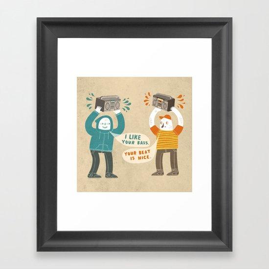 I like your bass Framed Art Print
