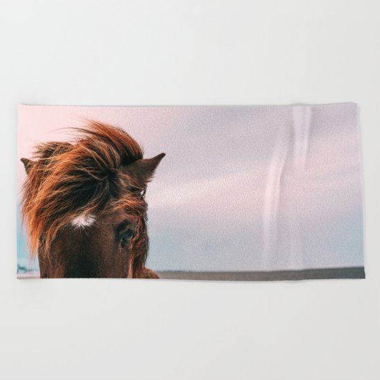 Horse #sunset Beach Towel