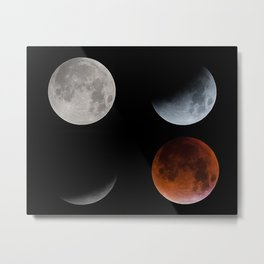 Blood Moon Transition in 4 Metal Print