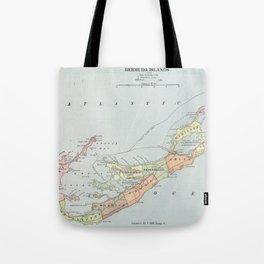 Vintage Map of Bermuda (1901) Tote Bag