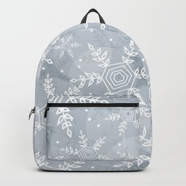 Snowflake pattern gray Backpack
