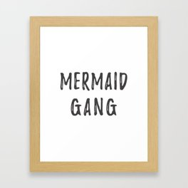 Mermaid Gang Framed Art Print