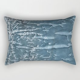 Dark slate gray colored wash drawing Rectangular Pillow
