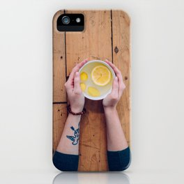 Lemon Ginger Tea iPhone Case