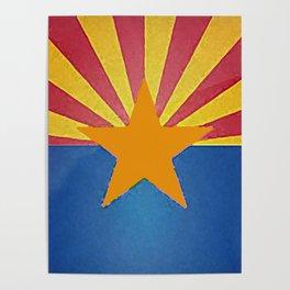 Fancy Flag: Arizona Poster
