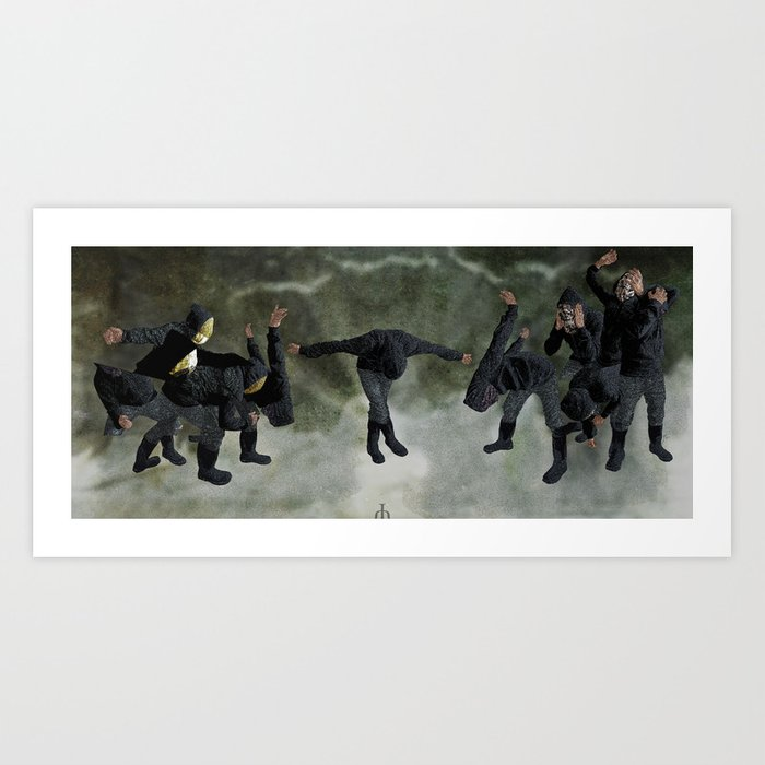 String Theory: Collapsing Wavefunction, Eleventh Tangible - The Separation Art Print