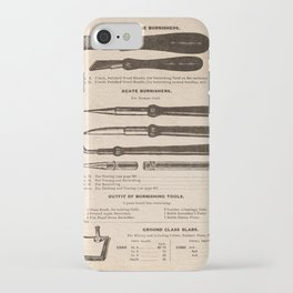 VINTAGE GOODS / Artists' Materials - Burnishing Tools iPhone Case