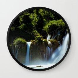 Krka Waterfall Landscape No. 1, Croatia Wall Clock