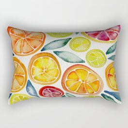 Sliced Citrus Watercolor Rectangular Pillow