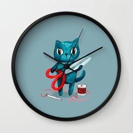 Sewing cat Wall Clock