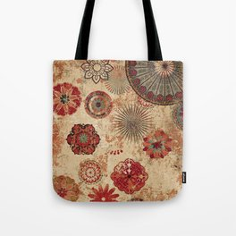Bohemian Floral Moroccan Style Design Tote Bag