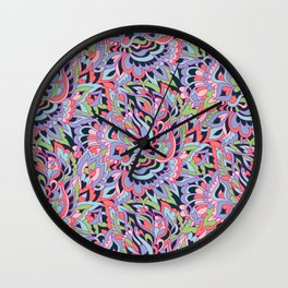Foral design Wall Clock