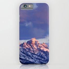 0117 - Sunrise on the Tetons, Wyoming iPhone Case