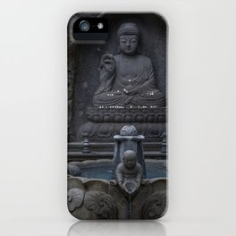 Yakcheonsa Buddha and Fountain iPhone Case