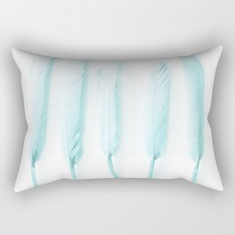 Pale Feathers II Rectangular Pillow