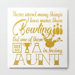 Bowling Aunt Metal Print