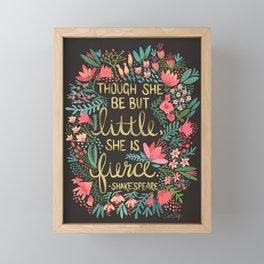 Little & Fierce on Charcoal Framed Mini Art Print