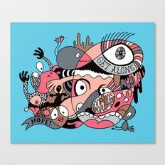 Get Along Canvas Print