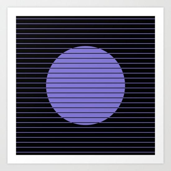 Difference (Minimalistic, pastel blue and black, geometric design) Art Print