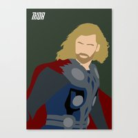 thor Canvas Prints featuring Thor by TheWonderlander