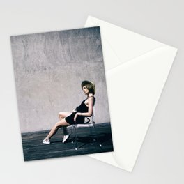 top model with hat Stationery Cards