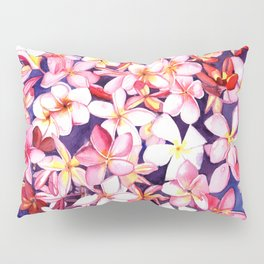 Floating Plumeria Pillow Sham