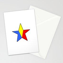 Flag of romania 6 -romania,romanian,balkan,bucharest,danube,romani,romana,bucuresti Stationery Cards