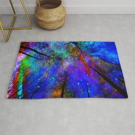 Colorful forest Rug