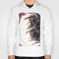 peacock feather Hoodies featuring Peacock Feather by KunstFabrik_StaticMovement Manu Jobst
