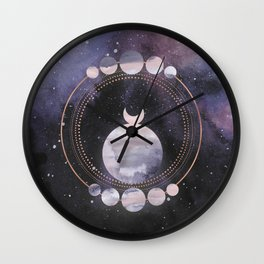 Full Moon Salutation Wall Clock