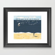 Sea Contemplation Framed Art Print
