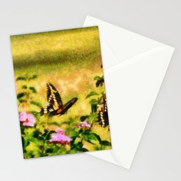 Three Giant Swallowtails - Monet Style Stationery Cards