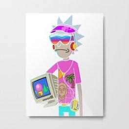 Vaporwave Rick Metal Print