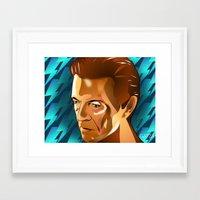 david bowie Framed Art Prints featuring Bowie  by Beth Gatza