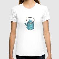 soviet T-shirts featuring soviet tea kettle pattern by lambaliha