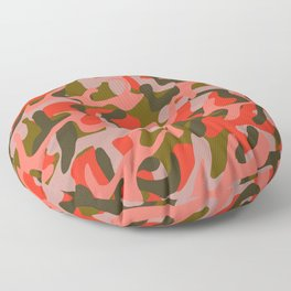 Coral Camouflage 2 Floor Pillow