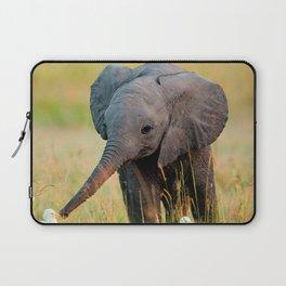 Baby Elephant and Birds Laptop Sleeve