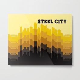 Steel City Pittsburgh Skyline Metal Print