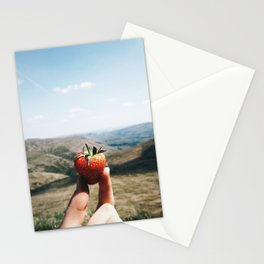 strawberry close up Stationery Cards
