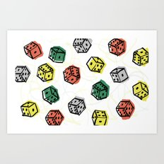 Roll the dice Art Print