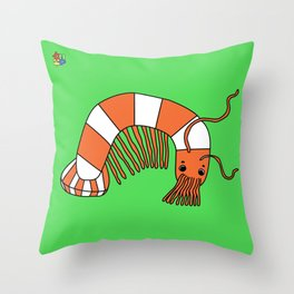 Hairy Shrimp Throw Pillow