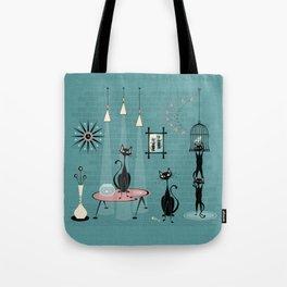 Mid Century Kitty Mischief - ©studioxtine Tote Bag