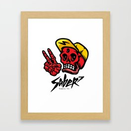 Saber7 Disturb the peace Framed Art Print