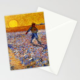 Vincent Van Gogh The Sower With Setting Sun Stationery Cards