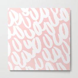 Pink Brush style pattern Metal Print