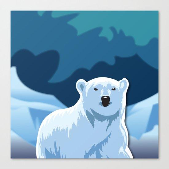 Lonely Polar Bear Canvas Print