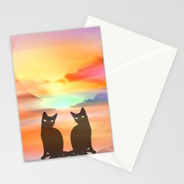 Midday sun cats Stationery Cards