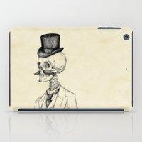gentleman iPad Cases featuring Old Gentleman  by Mike Koubou