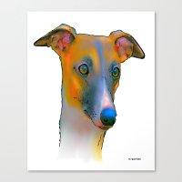 greyhound Canvas Prints featuring Greyhound by Marlene Watson