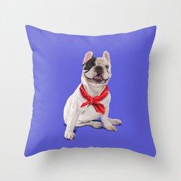 Frenchie (Colour) Throw Pillow